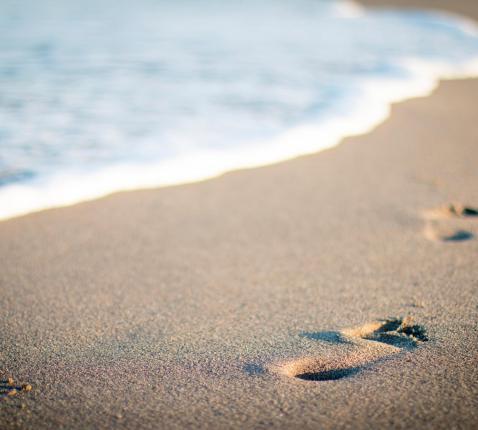 Vier voetafdrukken © Pexels