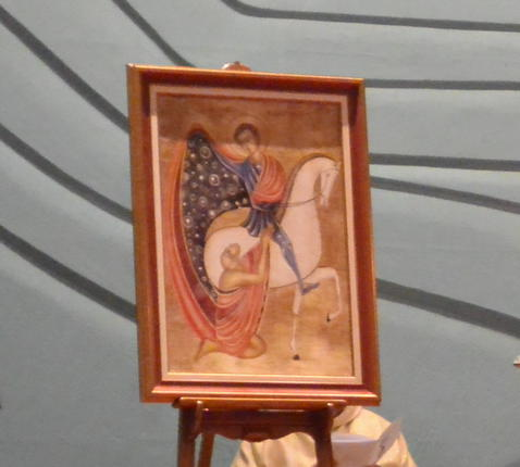 De eerste lezing over Sint-Martinus © PE Kleopas - kc