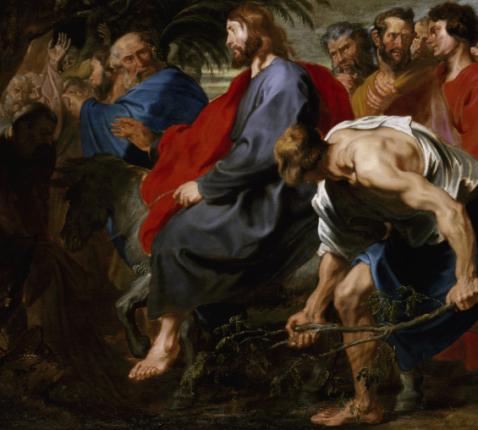 Anton van Dyck, Intocht in Jeruzalem.