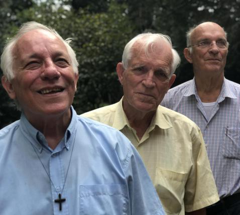 Van links: Jo, Jan en Patrick Hanssens. © Lieve Wouters