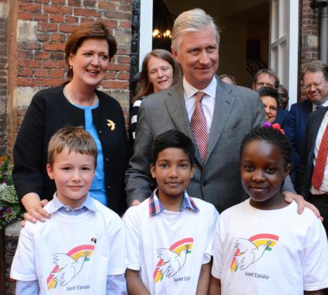 Koning Filip bezocht de Sant'Egidiogemeenschap in Antwerpen © Sant'Egidio