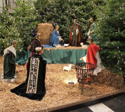 Kerststal Sint-Baafskathedraal © Bisdom Gent, foto: Ellen Eeckhout