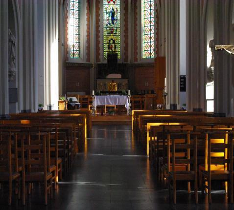 Binnenzicht van de kerk