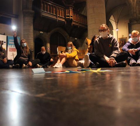 Ambiance (in stilte) in de kerk!