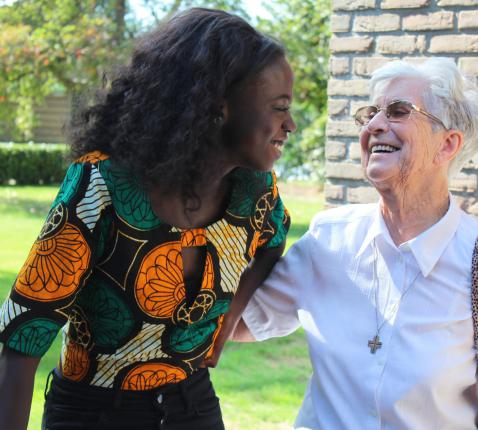 Voor Imana Truyers is zuster Marie Michelle een voorbeeld.  © Lieve Wouters