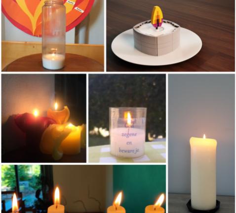 In plaats van allemaal kaarsjes aan het altaar te zetten, staken we kaarsen aan in onze eigen huizen © BVR