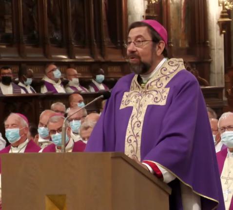 Bisschop Delville tijdens de begrafenis van mgr. Jousten © Bisdom Luik