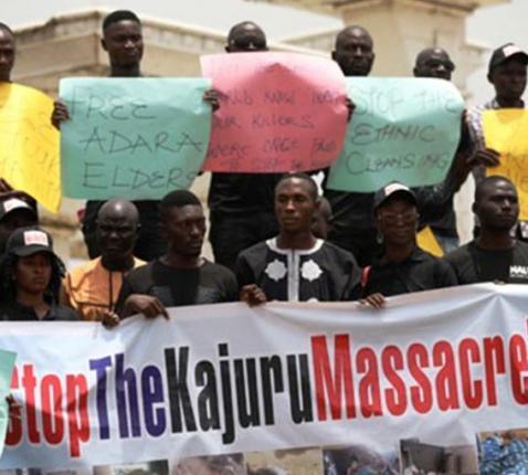 Nigeriaanse-christenen protesteren tegen religieus geweld in hun land © Kerk in Nood