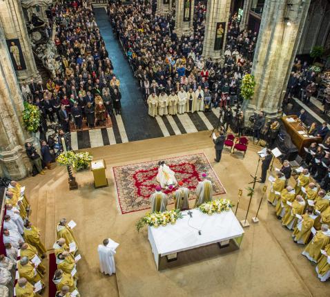 Bisschopswijding Lode Van Hecke 23.02.2021 © Bisdom Gent, foto: Frank Bahnmüller