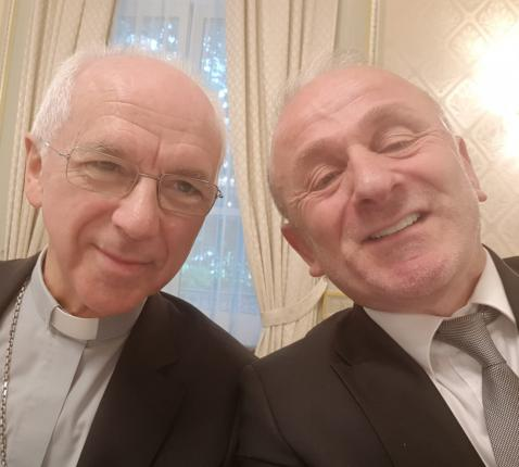 Kardinaal Jozef De Kesel en voorzitter Mehmet Üstün in betere tijden © Mehmet Üstün