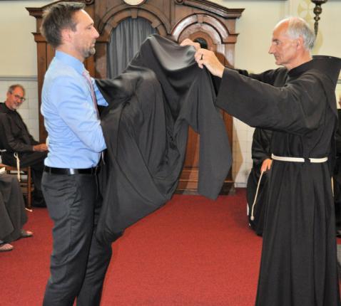 Gentenaar Koen Van Durme werd op 9 augustus 2020 ingekleed als franciscaan. © Jan Bouwens ofm