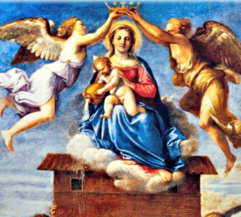OLV van Loreto met het heilig huisje van Nazareth