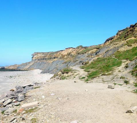 De Normandische kust ligt er vredig bij, 75 jaar na D-Day. © Mark Van de Voorde