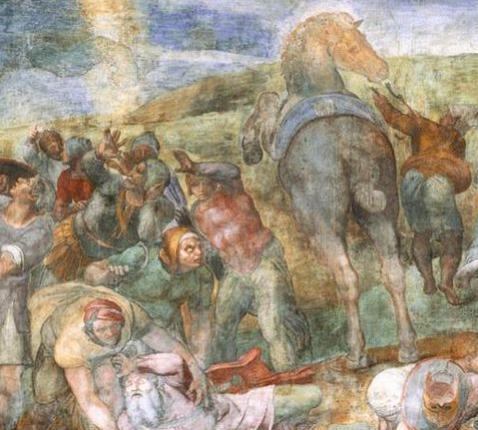 De bekering van Paulus (1545), Michelangelo in de Pauluskapel, Vatikaan