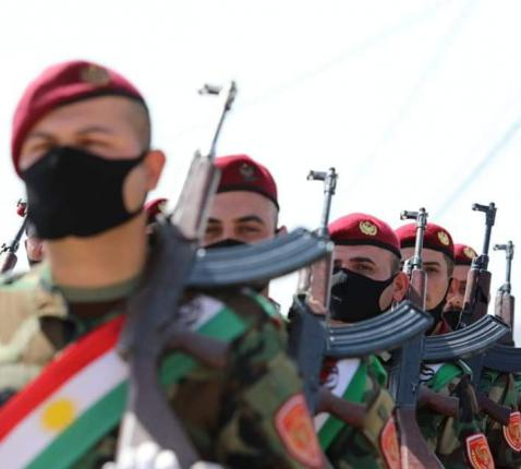 Christelijke peshmerga's © Zeravani Forces Media