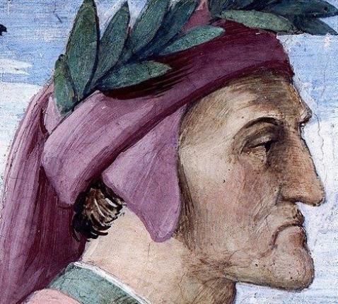Portret van Dante door Rafaël in de Stanza della Segnatura in de Vaticaanse Musea © VaticanMedia