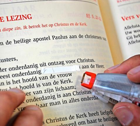 Beter een lezing integraal weg te laten dan er stukken uit te schrappen.  © Luk Vanmaercke