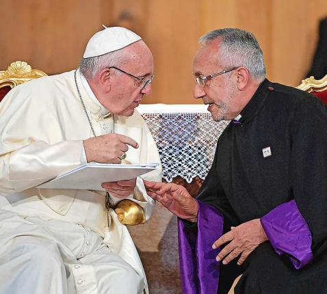 Paus Franciscus en patriarch Sako zullen elkaar opnieuw ontmoeten, ditmaal in Irak.  © KNA-Bild