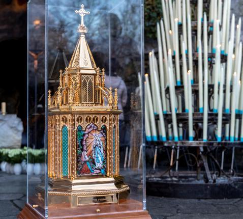 Reliekschrijn van Bernadette de Lourdes © Sanctuaire Notre-Dame de Lourdes / VINCENT Pierre