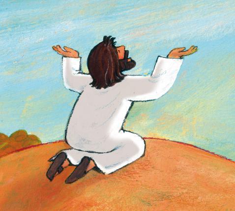 Jezus bidt voor zijn leerlingen © Roel Ottow
