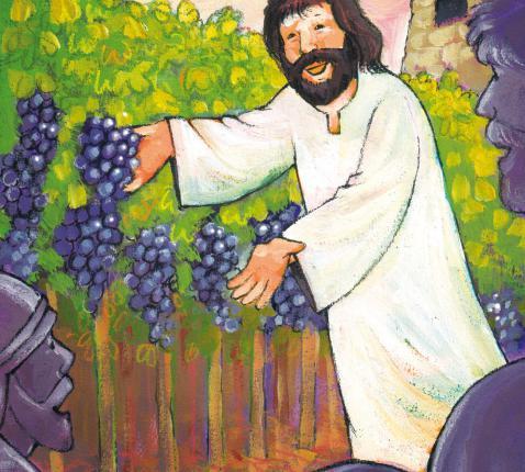 Ik ben de ware wijnstok en mijn Vader is de wijnbouwer. © Roel Ottow in 'Hosanna'