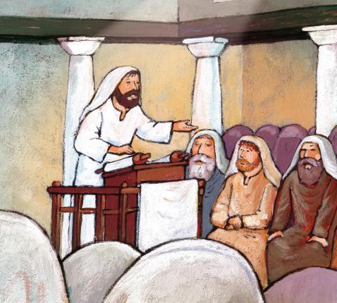 Jezus in de synagoge © Roel Ottow