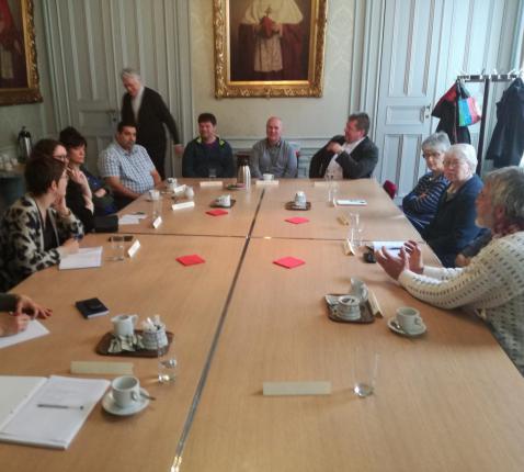 Informele Roma-conferentie in Gentse bisschopshuis 9 april 2018 © Bisdom Gent