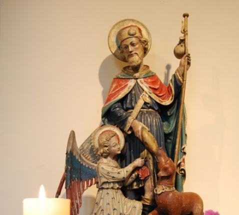 Sint-Rochus in de Sint-Amanduskerk © D.Decuypere