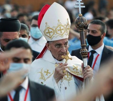 De maronitische patriarch, kardinaal Béchara Boutros Raï, bezocht de plaats van de ramp en droeg een eucharistieviering op.  © Vatican.va