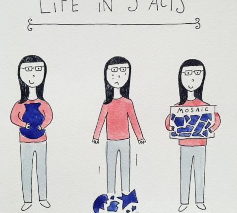 'Leven in drie hoofdstukken'. © Instagram Mari Andrew