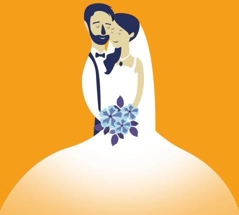Op weg naar een kerkelijk huwelijk  © CCV Gent