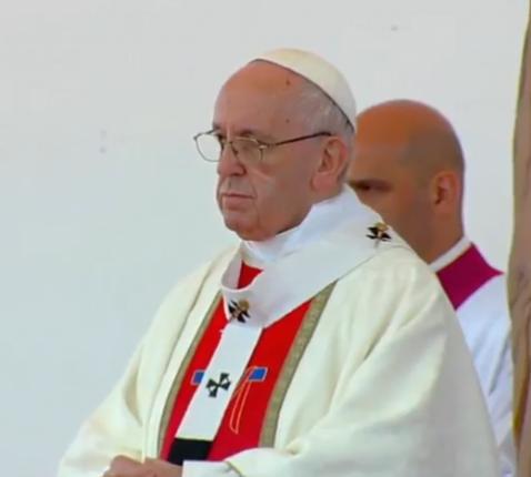 Paus Franciscus tijdens de eucharistie in Temuco © SIR/Vatican Media