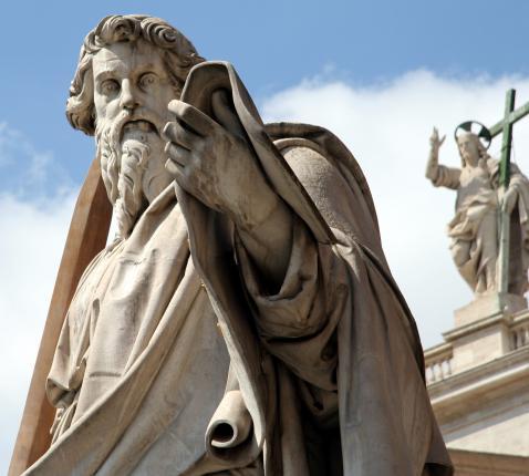 Paulus in het vaticaan.