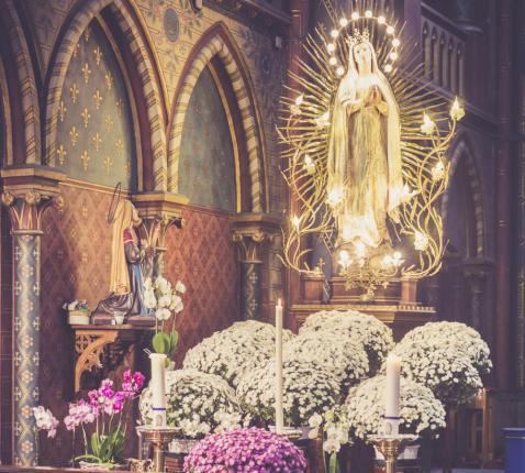 Bedevaartsoord Oostakker-Lourdes © Bisdom Gent, foto: Daina De Saedeleer
