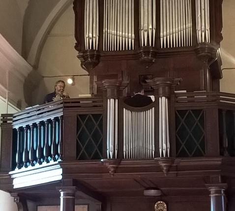 Beeld orgel kerk Wannegem-Lede © A.D.