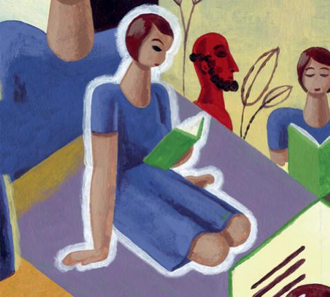 Leer bidden met de Bijbel © Kerk en media - Illustratie: Pieter van Eenoge
