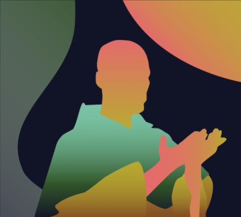 Leer bidden zoals de heilige Dominicus © Illustratie: Sim D'Hertefelt