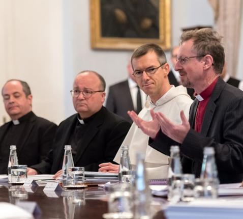 Leiders van verschillende christelijke kerken in gesprek met de nieuwe EU-voorzitter © COMECE