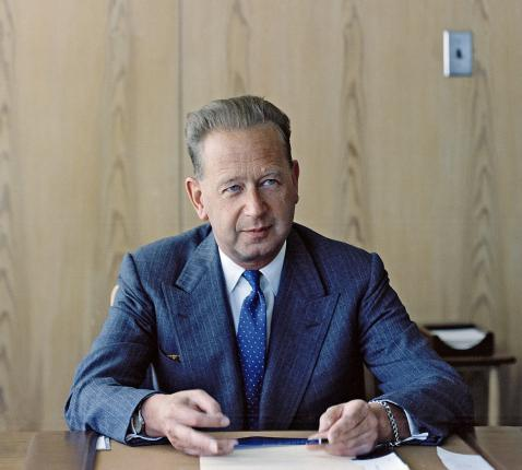 Dag Hammarskjöld, secretaris-generaal van de Verenigde Naties © Verenigde Naties