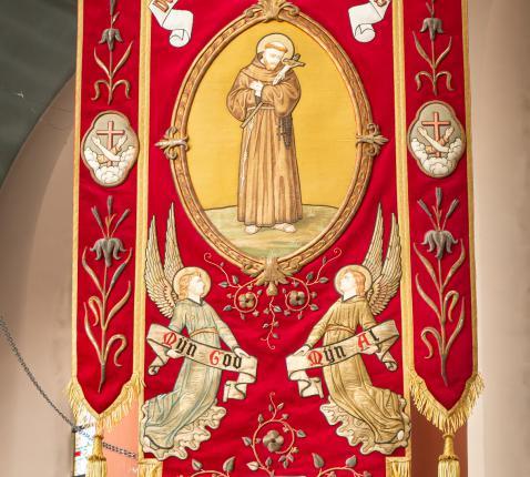 Vaandel van de Derde Orde van de H. Franciscus © M.R.