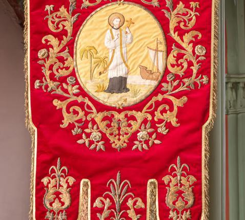Vaandel van het Genootschap van de H. Franciscus Xaverius. © M.R.