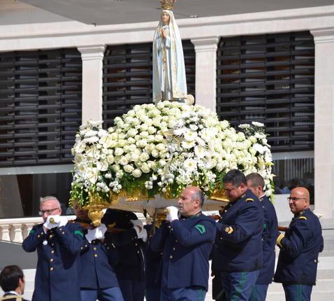 Mariabeeld Fatima © Bedevaarten Montfortanen