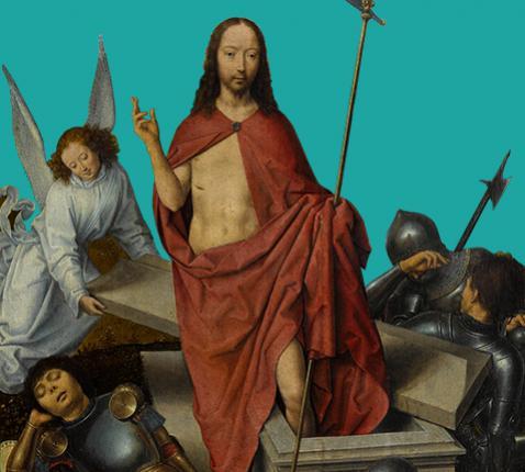 De opstanding van Christus (ca. 1490) ~ Hans Memling © RMN-Grand Palais (musée du Louvre) / Foto Stéphane Maréchalle