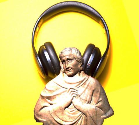 Heiligen in popmuziek, een verrassende combinatie. © Lieve Wouters / Malte Wingen on Unsplash / Flickr CC