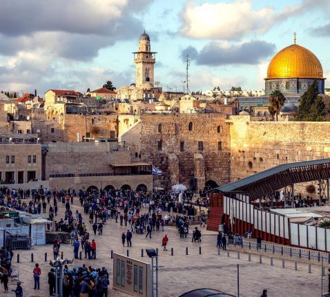 Jeruzalem met Klaagmuur en Gouden Koepelmoskee © RR