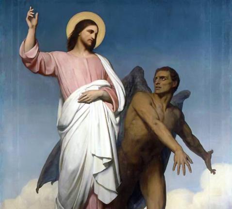 Jezus en duivel © RR