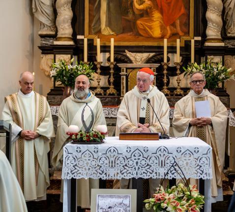 De jubileumviering met kardinaal De Kesel © Leon Alders
