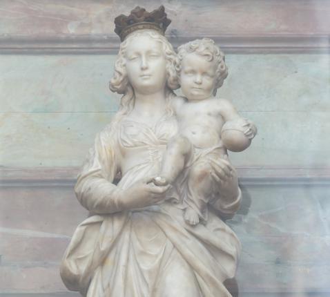 Onze-Lieve-Vrouwbeeld in de Abdijkerk! © Alexander Vandaele