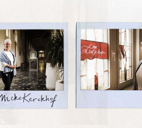 Mieke Kerckhof, algemeen overste zusters Bermhertigheid Jesu © Portretten en collage Sim D'Hertefelt, frame Christopher Paquette op Flickr