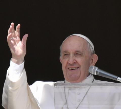 Paus Franciscus tijdens het angelusgebed op missiezondag © Vatican Media
